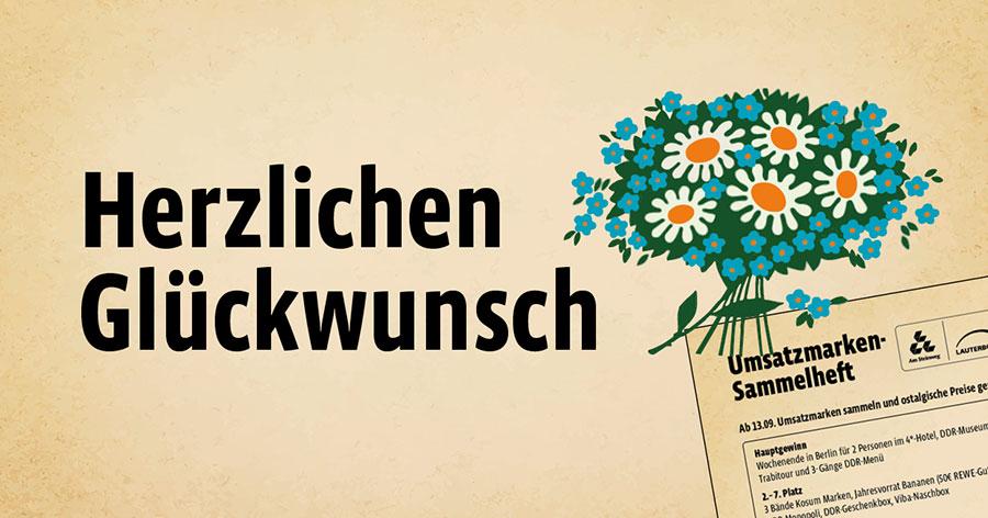Am Steinweg - Gewinne eine Reise nach Berlin - Umsatzmarken-Sammelheft
